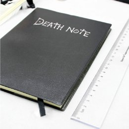 Wholesale Death Note Pen - Wholesale-Death Note 1pc Notebook + Feather Pen Writing Book Notebook Cosplay Japaness Anime Theme School Journal