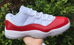 Wholesale Winter Boots Size 13 - Wholesale 2016 New Cheap Basketball Shoes Men Women Retro 11 XI Boots Original J11S Low Sneakers Red White Sports Shoes Size 5.5-13