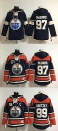 Wholesale Cheap Hockey Jerseys Edmonton - 2016 Newest Wholesale Edmonton Oilers #97 mcdavid #99 gretzky orange blue Hoodies Jersey Top Quality Drop Shipping Accept Mixedorders Cheap