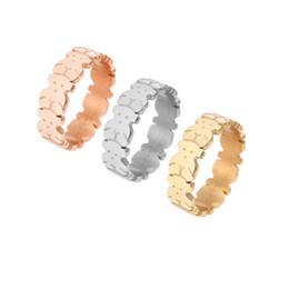 Dedos de acero online-CL envío de la gota 1 unids Fashion New design women acero inoxidable anillo de dedo de buena calidad sin fade osos