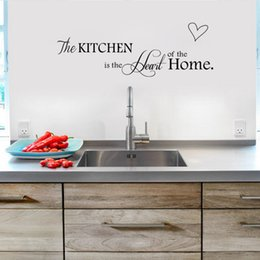 Wholesale Vinyl Wall Quotes For Kitchen - Wholesale- Kitchen Is The Heart of The Home kitchen home decoration creative quotes wall decal Stickers poster mural