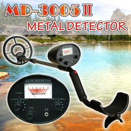 Wholesale metal detectors coins - Wholesale-MD-3005II Educational Junior Metal Detector with Coin Collecting Kit Youth Metal Detector