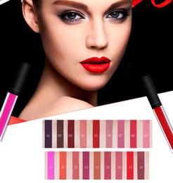 Wholesale lip printing - matte lip gloss 18 color no logo lipgloss Nonstick cup, long Lasting waterproof Lip Balm makeup welcome print logo