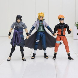 Wholesale Sasuke Uchiha Action Figures - 3Styles 14CM SHFiguarts Naruto Shippuden Uzumaki Naruto Uchiha Sasuke Namikaze Minato Boxed PVC Action Figure Collectible Model Toy