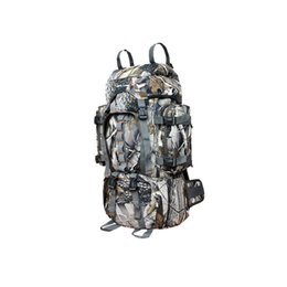 Wholesale Shoulder Bag Men Military - 1pcs 60L bionic camouflage bag tactical army military backpack Molle travel Outdoor Sports Camping Hiking shoulder bag free shipping