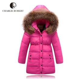 Wholesale Down Jacket Kids Duck - Girls Winter Jacket Kids Warm Duck Down Coat Hooded Outerwear For Girls 3-12 Years Parkas Children Winter Clothing Snowsuit
