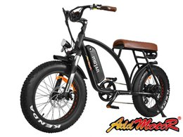 Wholesale Bike E Seat - Addmotor MOTAN Electric Bicycle 500W 48V 10.4AH M60 20Inch Fat Tire Black E-Bike Lithium Batteries Gear Large Leather Seat M60