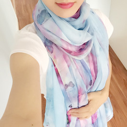 Wholesale Scarf Big Butterfly - 3 Color Big Size chiffon Scarf butterfly Pashmina All-match Scarves and Wraps For sunblock European and American fashion