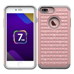Wholesale Star Mobile Phones - High-grade Armor Stars Diamond Bling Hybrid 2in1 Silicone PC rmor Hard mobile phone shell Cover Shockproof Cases for iphon 7 4.7 inch