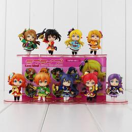 Wholesale Action Love - Love live! Kousaka Honoka Koizumi Ha Minami Kotori Sonoda PVC Action Figure Collectable Model Toy for kids gift free shipping retail