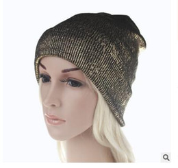 Wholesale Fashionable Winter Hats Men - New hot sale men and women knitting wool knit hats gold pure autumn winter fashionable warm ear protection adult hat lovers hat