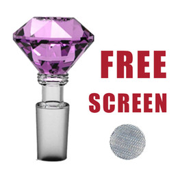 Wholesale Herb Glass Screen - Formax420 14mm Glass Diamond Bowl Herb Holder 6 Colors 5 Free Screens Free Shipping