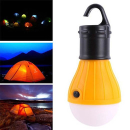 Wholesale Camping Tent Lighting - Camping Outdoor Light 3 LED Portable Tent Umbrella Night Lamp Hiking Lantern V8 Card Button Lamp Bulb