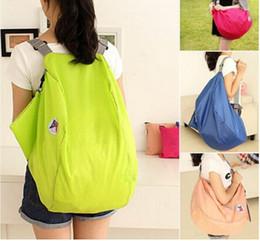 Wholesale Womens Backpack Style Handbags - 2016 Womens Nylon Foldable Travel Duffle Women Large Capacity Luggage Folding Backpacks Handbag Casual Travel Shopping Bags Bolsa SV005271