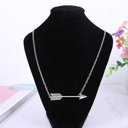 Wholesale Fortune Necklace - Minimalist necklaces Jewelry fashion Bridesmaid Gifts Dainty Vintage Fortune Arrow Chain Necklaces & pendants for women free shipping