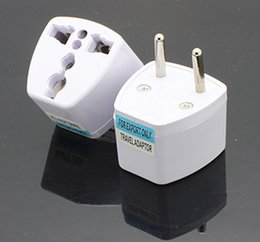 Wholesale Socket Outlet Converter - Universal UK US AU To EU Plug Euro Europe Travel Wall AC Power Charger Outlet Adapter Converter 2 Round Socket Input Pin