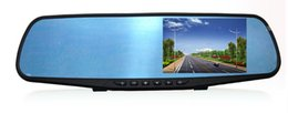 Wholesale Rearview Screen - 2Ch 4.3 inches 1080P blue car DVR mirror cameras for safety driving recorder with parking grid screen saver g-sensor