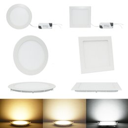 Wholesale Recessed Light Fittings - 3w 6W 9W 12W 15W 18W round and quadrate LED panel light,ceiling recessed spot lamp,fit for balcony,toilet and kitchen