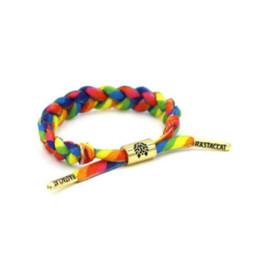 Wholesale Food Lion - 10 Color Fashion Rastaclat 18CM Bracelets Shoelace Braiding Lion lovers Bracelet Shoelaces Compiled Bracelet