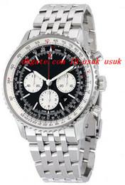 Wholesale Watches Navitimer - Luxury Wristwatch Fashion Watch Navitimer 01 Chronograph Navitimer Steel Men's Watch 46mm Quartz Mens Watch Watches