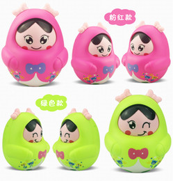 Wholesale Toy Tubas - free shipping whilesale Infants and children tumbler toys baby tuba Decoration Music Puzzle boys and girls nodding doll 2 years 3 months