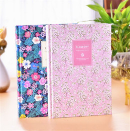 Wholesale Diary Book Flower - New Arrival Cute PU Leather Floral Flower Schedule Book Diary Weekly Planner Notebook School Office Supplies Kawaii Stationery