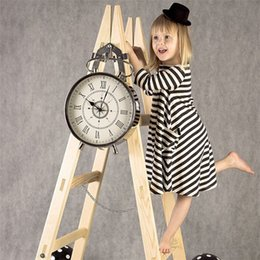 Wholesale Clothes For Kids Girls School - Girl Dress Princess 2016 Autumn New Stripe Dresses For Girls Kids Children School Clothes Toddler Girls Dresses Baby Clothing