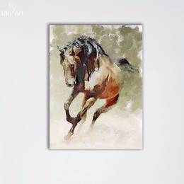 Wholesale Abstract Horse - Modern Modular Pictures of Abstract Horse Art Pictures Painting On Canvas Home Wall Decoration For Living Room