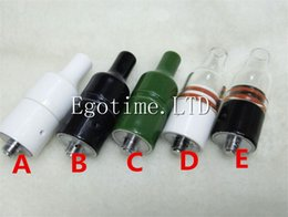 Wholesale Mod Full - Hot sale Full Ceramic Glass donut wax atomizer huge vapor ceramic donut atomizer for wax, no coil no wick ceramic heating element Box Mod