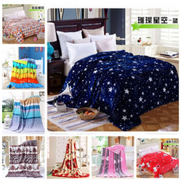Wholesale New Fabric Collections - New Flannel Blankets Light Weighted Christmas Collection Printed Flannel Fleece Blanket Throw knit Blanket Home Textiles