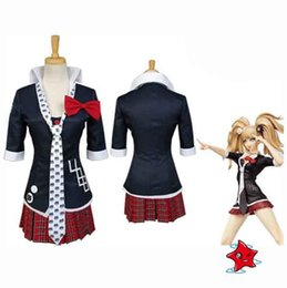 games sexy anime Promo Codes - Wholesale-Sexy Anime Danganronpa Dangan-Ronpa Junko Enoshima Cosplay Costume Dress