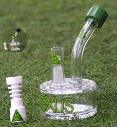 Wholesale Tire Accessories - NEXUS glass bong have three accessories internal tire percolator vapor rig glass bubbler oil rig glass water pipe 14.4mm male joint