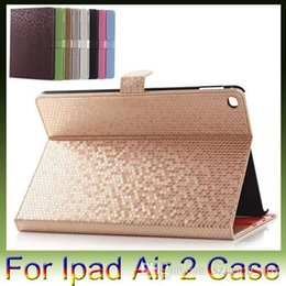 Wholesale Ipad Case Diamond Pattern - Ipad 2 3 4 air air2 mini 4 ipad Pro Luxury Bling Diamond Pattern Stand Flip Smart Leather Case Cover With