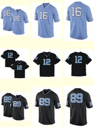 Wholesale Woman Cotton Top Xxl - Men's Women Youth Kids North Carolina Tar Heels Personalized Customized NCAA jersey Black Blue Any Name Any Number Top Quality Drop Shipping