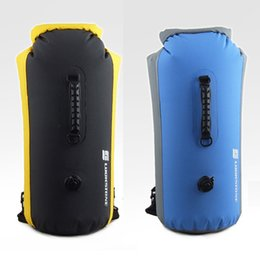 Wholesale Free Shipping Kayaks - Free Shipping 60L Large Waterproof Floating Dry Bag Backpack Drift Canoeing Kayak Camping Outdoor Activities , Mix Color
