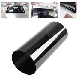 Wholesale cars windshield shade - Wholesale- Hawksoar Black 20cm x 150cm Car Window Solar Protection Film Windshield Sun Shade Auto Window Car Stickers 99 % Anti-UV rate