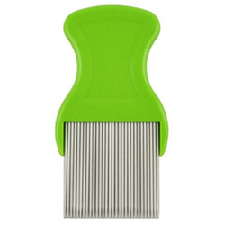 Wholesale Lice Combs Wholesale - Flea Comb Cootie Stainless Steel Lice Comb for Children Flea Combs