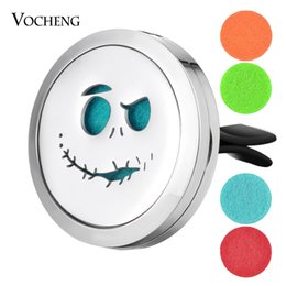 Wholesale Cars Slide - 30mm Stainless Steel Car Air Freshener Aromatherapy Perfume Diffuser Locket Halloween without Felt Pads VA-722