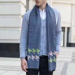 Wholesale Mens Warm Wraps - 2018 New High Quality Winter Scarf For Mens Classical Shawls Warm Soft Lattice Pattern Shawl Wrap Scarves