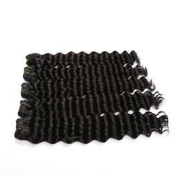 2017 moda capelli tipo Deep Wave Bundles capelli umani 10-28 pollici reale indiano Remy Bundles capelli 4 pezzi uno lotti da tipi di onde di capelli fornitori