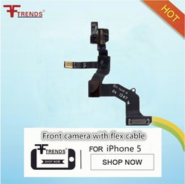 Wholesale Iphone Front Cam - for iPhone 5 5G Proximity Sensor Light Motion Flex Cable Front Facing Camera Cam Small Camera Original One By One Test