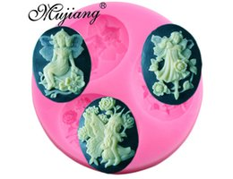 Wholesale Fairy Cake Decorating - Angel Fairy Silicone Fondant Molds Sugarcraft Party Cake Decorating Tools Candy Fimo Clay Chocolate Gumpaste Moulds