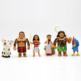 Wholesale Rooster Set - 6pcs set Moana Princess Maui Action Figures Toys 7-10cm New Children Cartoon Maui the Rooster PVC Figure Toys Dolls