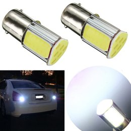 Wholesale 12v P21w Bulb - Car Light COB LED Bulb 1156 BA15S P21W Auto Car Lamp Parking Stop Tail Light Bulbs DC 12V White 6500-7000K