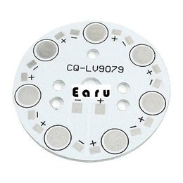 Wholesale Wholesale Printed Circuit Boards - Wholesale-Aluminum PCB Printed Circuit Board 49mm for 7 x 1W 3W 5W LEDs