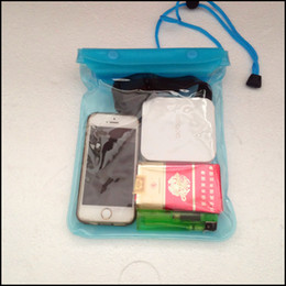 Wholesale Waterproof Phones For Sale - Newest! Clear Waterproof Pouch Bag Dry Case Cover For Cell Phone iphone7 Samsung S7 HTC and more Free shipping 50pcs lot by DHL hot sale