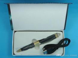 Wholesale Spy Pen Memory Card - 10 lot black&silver pen mini camera 720P&1080P SPY Video Record Camera Pen HD DVR memory card Micro SD Card Hidden
