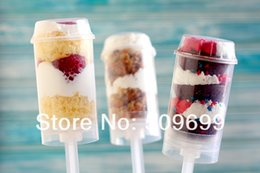 Wholesale Cupcake Shipping Containers - new arrival push up pop containers for cake ice cream wedding cupcake containers with lid- free shipping