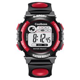 Wholesale Watch Digital Kids Girl - Fashion Children Kids Multifunction LED Digital Watch Luminous Alarm Clock Calendar Sport Wristwatches Boy Girl Students Gift Watches