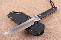 Wholesale China Hunting Knifes - China Brand 27cm Survival Straight knife 9Cr18 60HRC Satin Blade G10 Handle Outdoor Camping Hiking Hunting Fixe blade knives